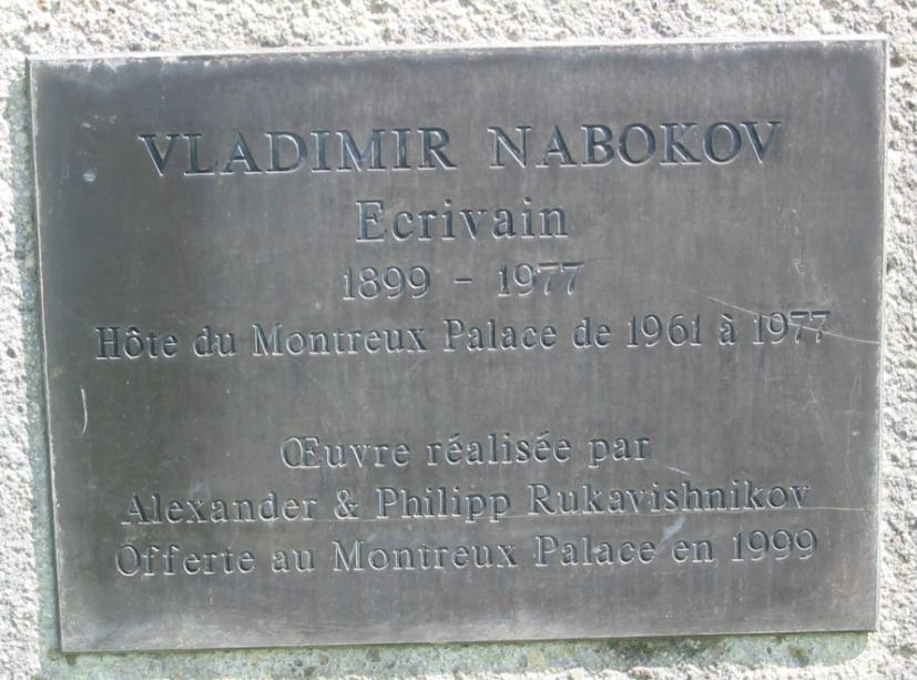 Nabokov Statue Inscription