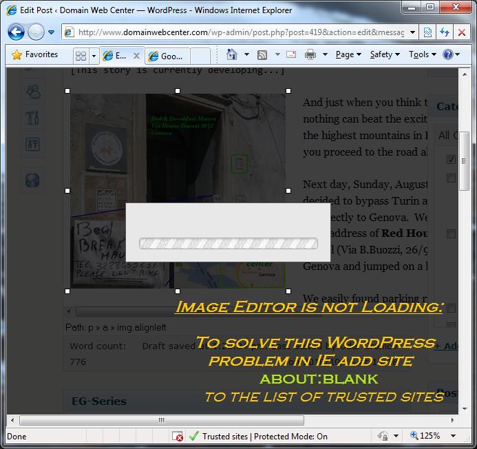 WordPress - Image Editor is not Loading