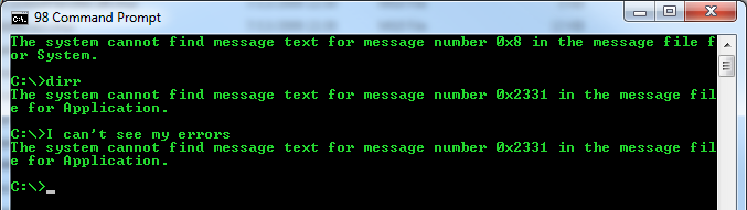 Resolved: The system cannot find message text for message number (0x2350)…
