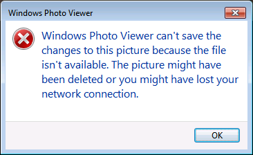 Windows Photo Viewer: Can't Rotate Images on a Network Drive - Solved!