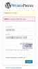 WordPress -  Unreadable CAPTCHA cookie