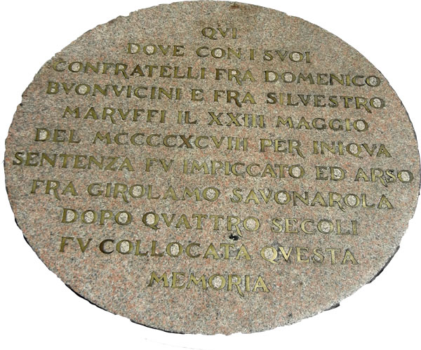 Firenze - Place of execution of Savonarola