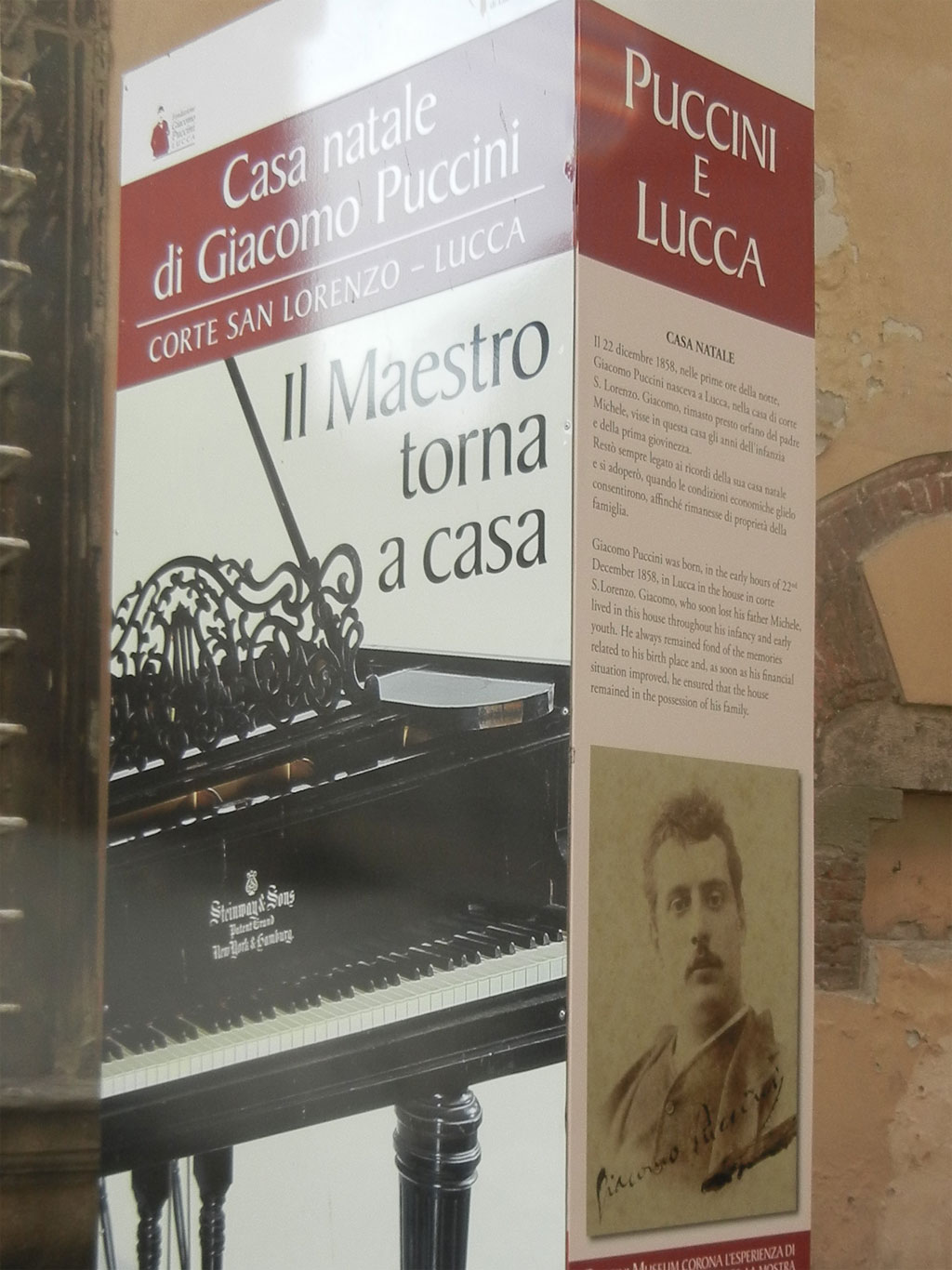 Lucca - Puccini house