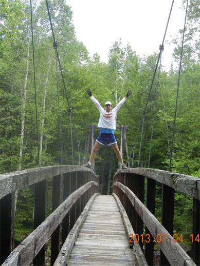14-02 Wild River Suspension Bridge