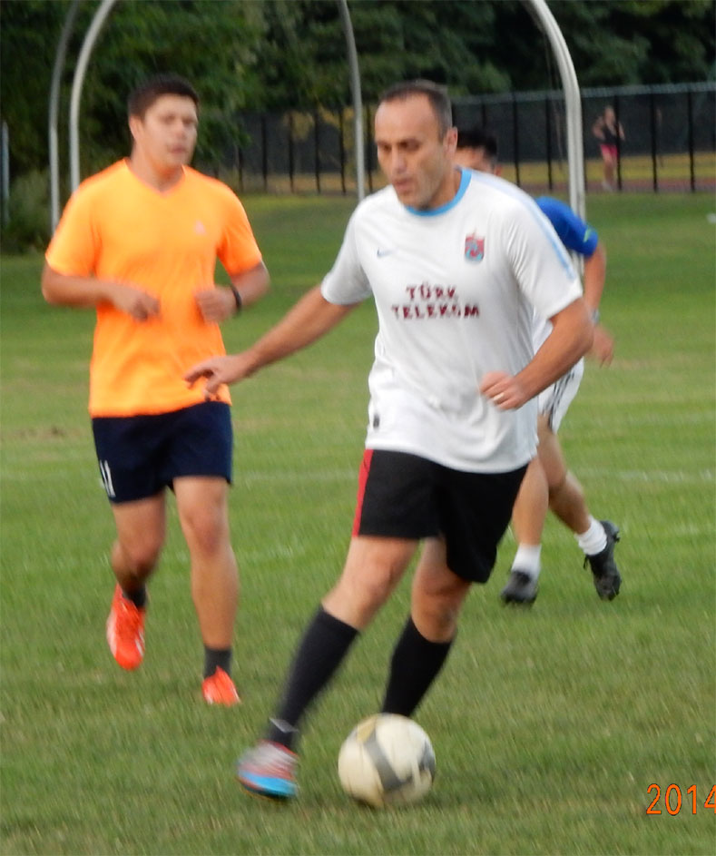 2014-08-20 WED - Cuneyt before scoring a decisive goal