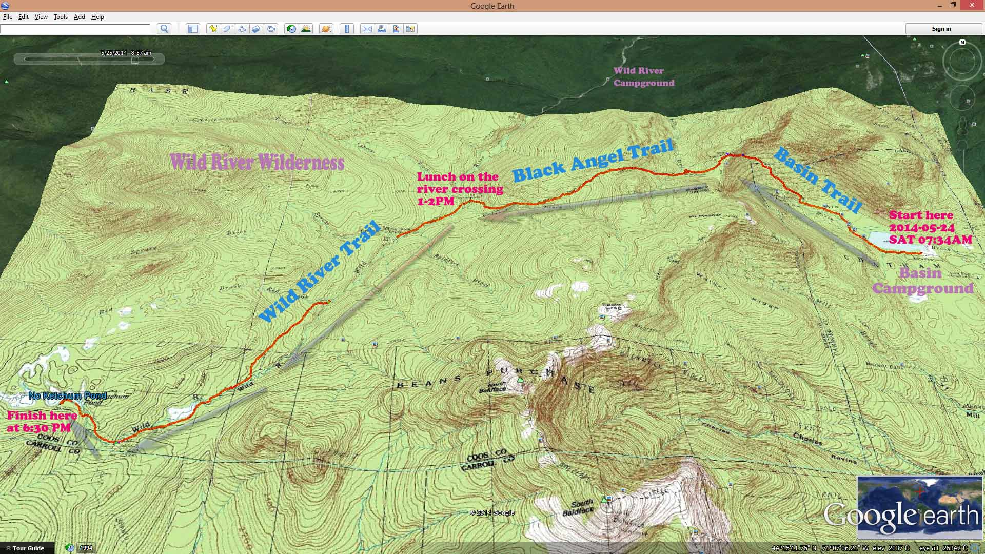 2014-05-24 SA 07AM-6PM Hike Overview