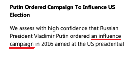 Putin ordered an influence campaign