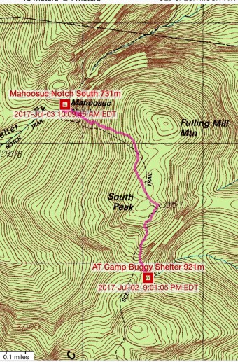 07-03 08;41-10;08 map from Camp to Mahoosuc Notch